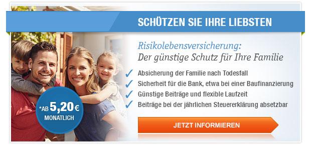 Risikolebensversicherung: Der günstige Schutz für Ihre Familie